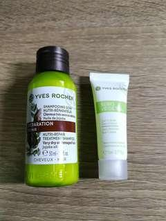 Yves Rocher 可可巴精華滋養修護洗髮乳 + 面霜
