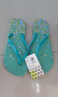 Sandal hijau jelly glass lakokA