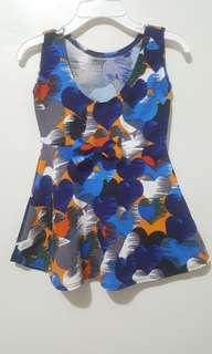 Blue colorful dress