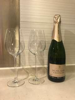 2 Brand new Wine Glass  全新酒杯 x 2