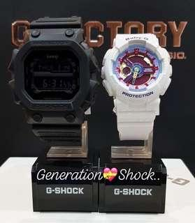 🚚 GKING COUPLE💝PAIR SET in DIVER SPORTS WATCH : 1-YEAR OFFICIAL WARRANTY: 100% Original Authentic G-SHOCK : Best For Most Rough Users & Unisex: GX-56BB-1 + BA-112-7A / GX56BB-1 / BA112-7 / CASIO / GSHOCK / BABYG / WATCH