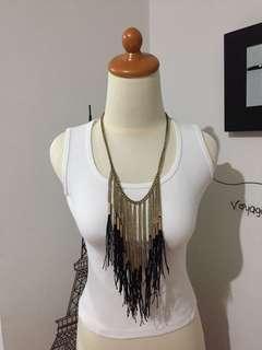 Gatsby black gold necklace