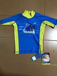 🚚 Brand new with tag teepeeto swimsuit rashguard swim top for 3-12m. With upf 50+ protection
