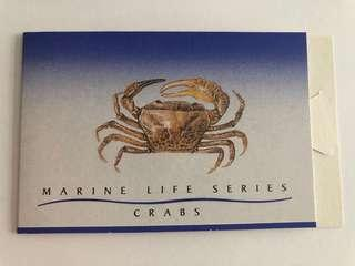🚚 Singapore 1992 crabs booklet mnh