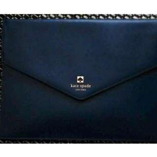 🚚 Kate Spade Mallo Charlotte Terrace Smooth Leather Envelope Pouch Clutch (Black)