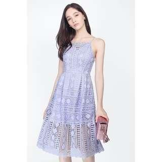 🚚 *CLEARANCE* Fayth Emma Crochet Dress Size S in Pastel Periwinkle