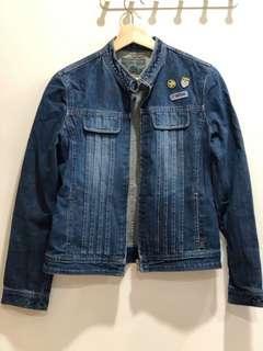 Vintage Biker jean denim jacket