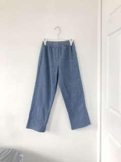 Denim highwaisted pants