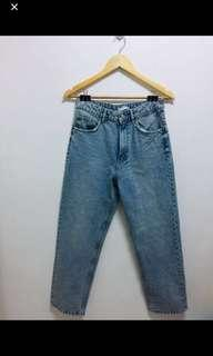 Bundle spaghetti top and mom jeans