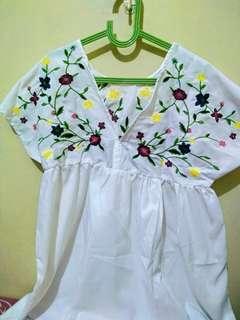 DRESS FLOWER WHITE