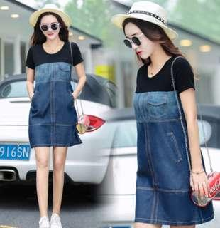 🚚 Pre Order [ S - 3XL ] Regular - Plus Size Denim Dress