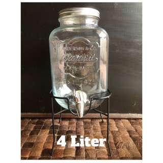 Original Party Drink Glass Dispenser 4 Liter / Dispenser Minuman Kaca
