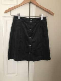 Aritzia Wilfred centinela skirt grey suede