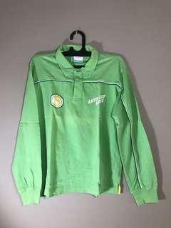 Polo shirt hijau long sleeve