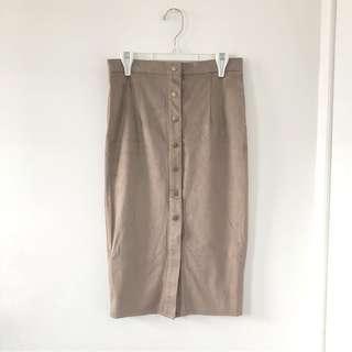 Highwaisted button down skirt