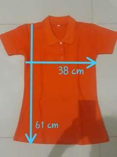 Kaos wangki cewe warna orange