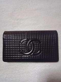 Chanel black patent chocobar bifold  wallet
