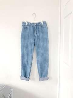 Highwaisted lined bf jeans