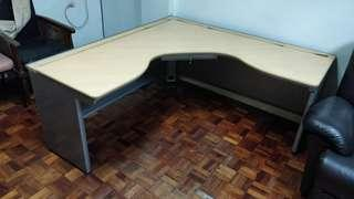 Office Table L Shaped - Made in Japan