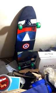 Captain america skate longboard LIMITED EDITION
