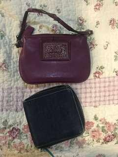 🚚 COACH wristlet and Denim wallet