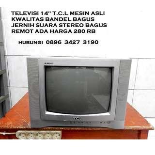 "Tv 14""Kwalitas Bandel T.C.L jernih ori Katapang Kab Bandung"