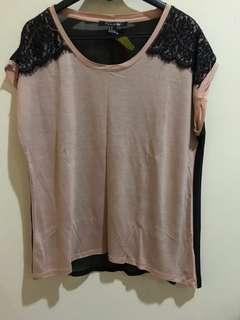Top forever 21 nude lace