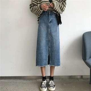 🚚 牛仔褲 牛仔裙 平口小可愛