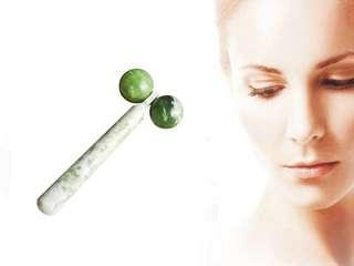 天然岫玉按摩棒美容器jade ball roller jade roller1pc