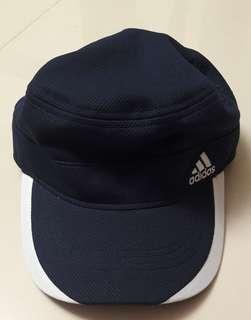 🚚 Authentic navy blue/white Adidas Cap (Size 57cm-60cm)