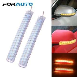 2PCS LED Car Turn Signal Light Auto Rearview Mirror Indicator Lamp Soft Flashing FPC Universal Yellow 9 SMD Amber Light Source