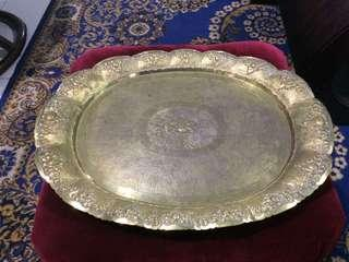 Antique Brass Tray with Lion 🦁 motif