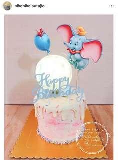 月球燈 生日蛋糕 卡通  小飛象