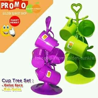 Set Gelas Pohon