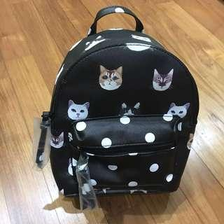 🚚 Cat Print Mini Backpack