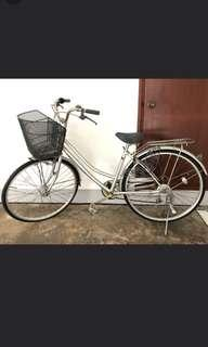Bicycle with basket (from Japan)