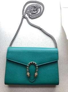 Gucci Swarovski green crystals Dionysus bag