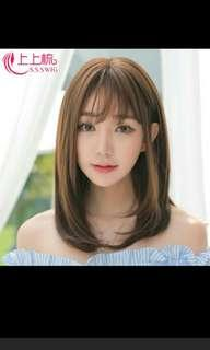 (NO INSTOCKS!)Preorder Korean Air bangs middle length straight Wig* waiting time 15 days after payment is made* chat to buy to order