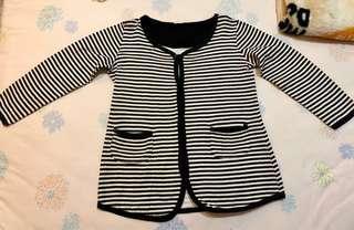 Stripes Jaket Cardigan Korea