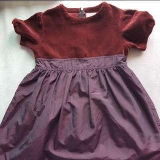 Girl Dress velvet espirit 110cm