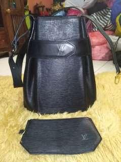 Louis Vuitton shoulder and clutch bag