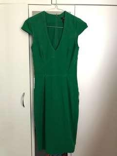 H&M Green Cocktail/Work Dress
