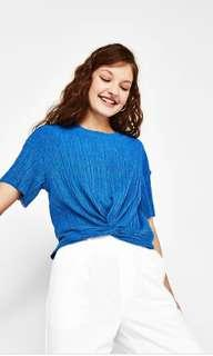 Bershka pleated knot top