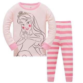 🚚 KOR145  Toddler Kids Pajamas PJs Sleepwear - Blushing Princess