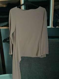 Aere Top in Dusty Pink