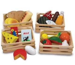 🚚 Wooden food group grocery toys