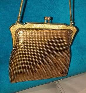 Oroton original vintage gold mesh evening bag