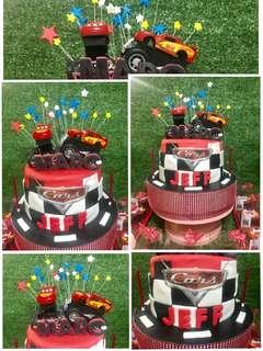 Customized Cake and Cupcakes