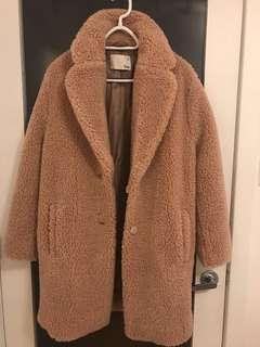 "Aritzia Wilfred Free « The Teddy Cocoon"" coat in M"