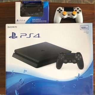 PS4 Set with Free Extra Controller (500GB, Jet Black)